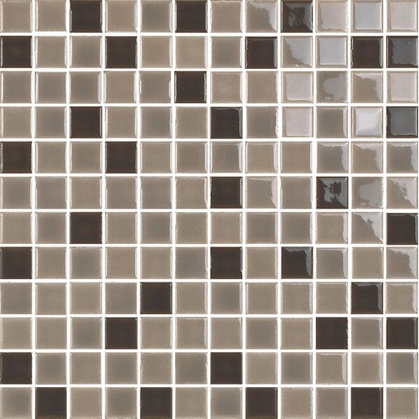 New Blendz 1 x 1 Glass Mosaic Tile in Chocolate by Epoch Architectural Surfaces