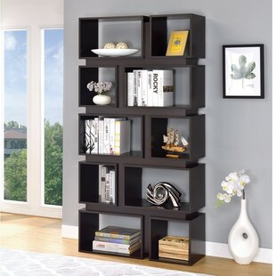 Wirriana Geometrically Wooden Cube Unit Bookcase Brayden Studio