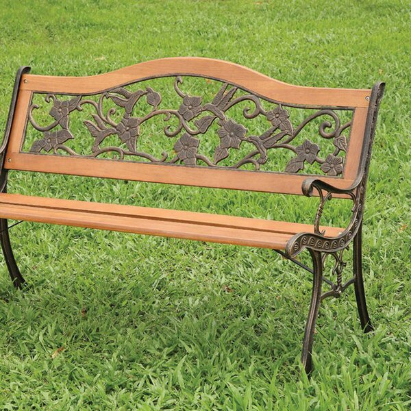 Boyer Floral and Bird Garden Bench by August Grove