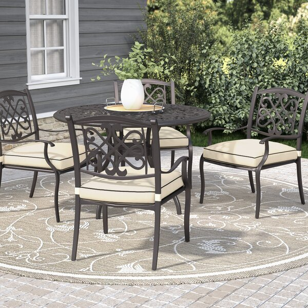 Hanson Stacking Patio Dining Chairs with Cushions (Set of 4) by Darby Home Co