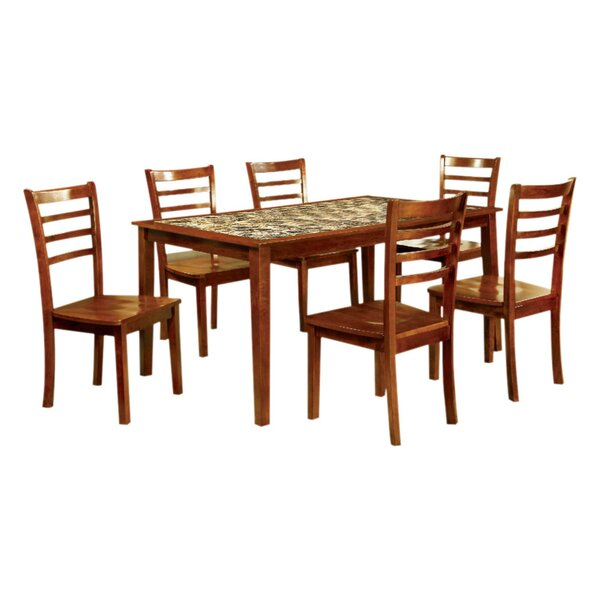 Harned Wooden 7 Piece Counter Height Dining Table Set by Red Barrel Studio