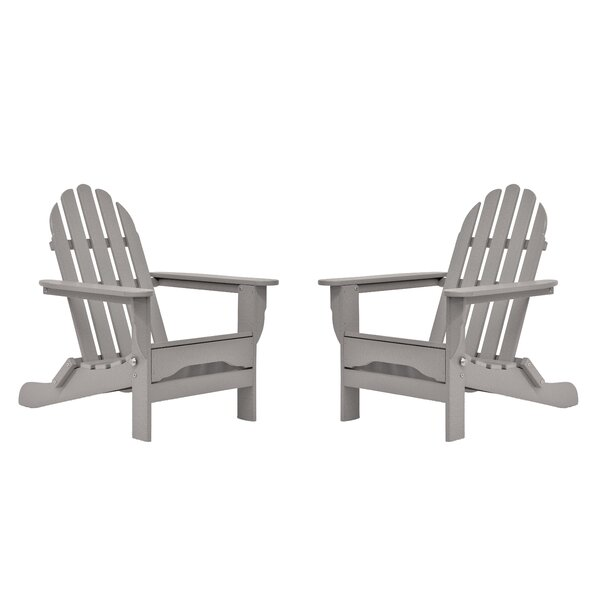 Seaway Plastic Folding Adirondack Chair (Set of 2) by August Grove
