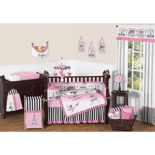 Paris 9 Piece Crib Bedding Set by Sweet Jojo Designs
