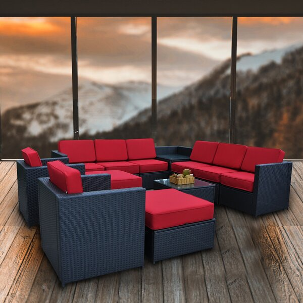 Soham Cozy Outdoor 13 Piece Sectional Seating Group by Ivy Bronx