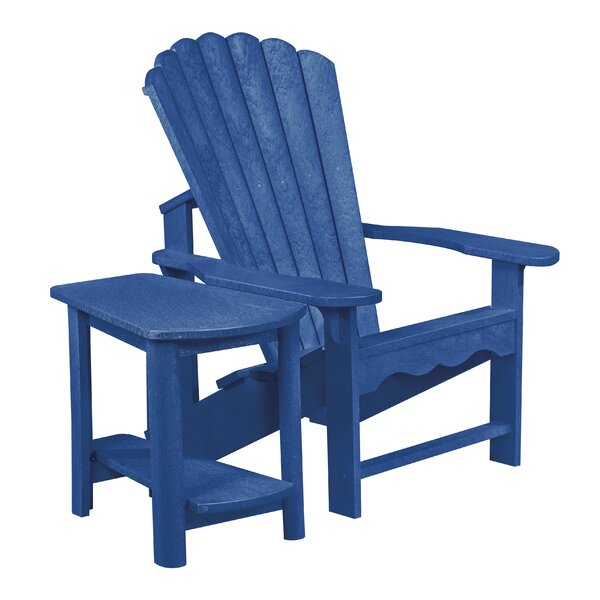 Alanna Plastic Adirondack Chair with Table by Beachcrest Home