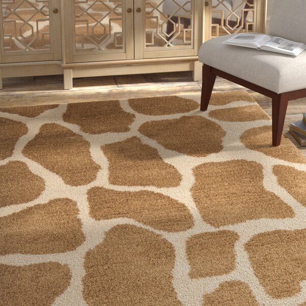 Dorthy Beige & Brown Area Rug by Bloomsbury Market