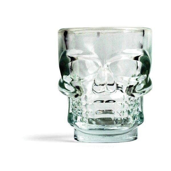 Gatling 1.5 oz. Skull Shot Glass (Set of 4) by Wrought Studio