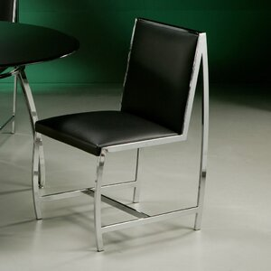 Belado Side Chair in Leather Touch Black Impacterra