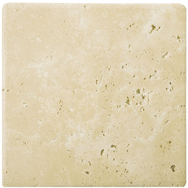 Travertine 8 x 8 Field Tile in Ancient Tumbled Beige by Emser Tile