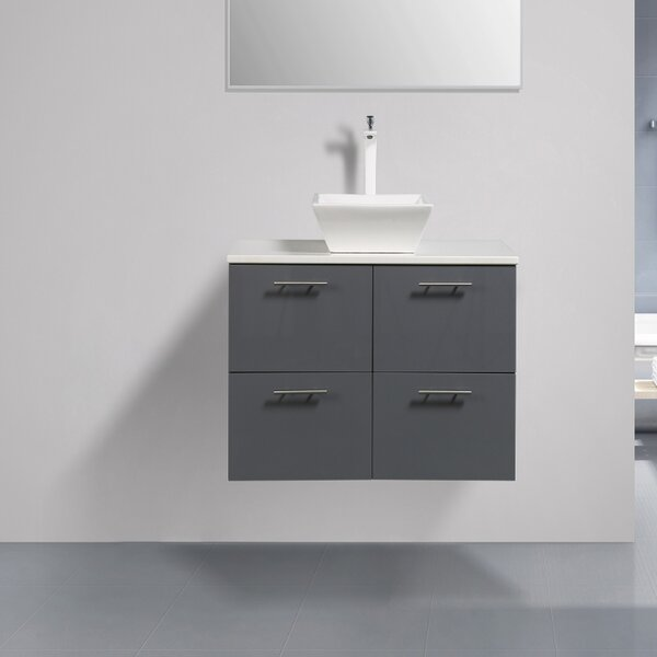 Ophir 40 Wall-Mounted Single Bathroom Vanity by Orren Ellis