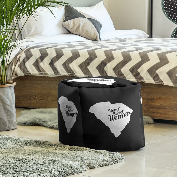Home Sweet Myrtle Beach Cube Ottoman by East Urban Home East Urban Home
