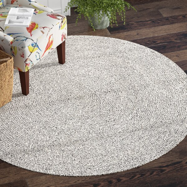 Crawfordsland Hand Braided Gray/Ivory Area Rug by Andover Mills