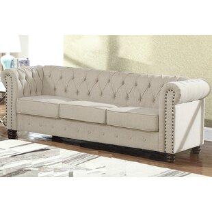Bowley Nailhead Living Room Chesterfield Sofa
