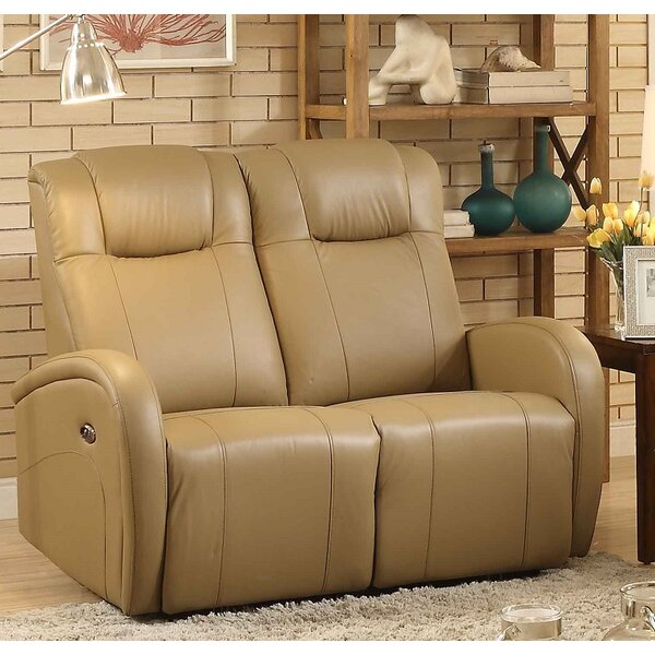 Lance Power Leather Reclining Loveseat by Latitude Run