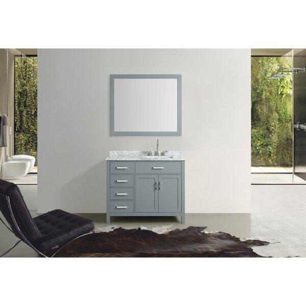 Weatherford 43 Single Bathroom Vanity Set with Mir