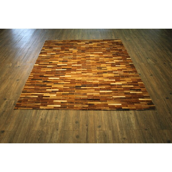One-of-a-Kind Oconner Hand-Woven Tan/Brown Area Rug by Loon Peak