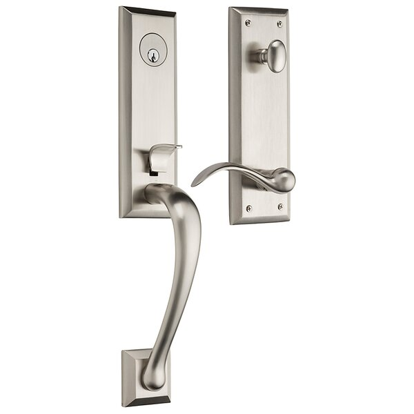 Cody Single Cylinder Handleset with Interior Lever and Trim and Emergency Egress by Baldwin