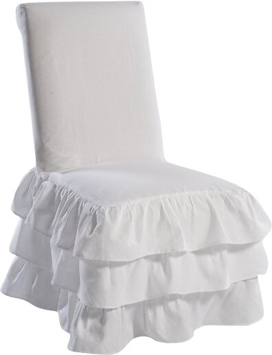 Parson Chair Skirted Slipcover by Ophelia & Co.