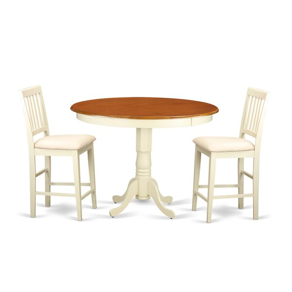 Trenton 3 Piece Pub Table Set by Wooden Importers