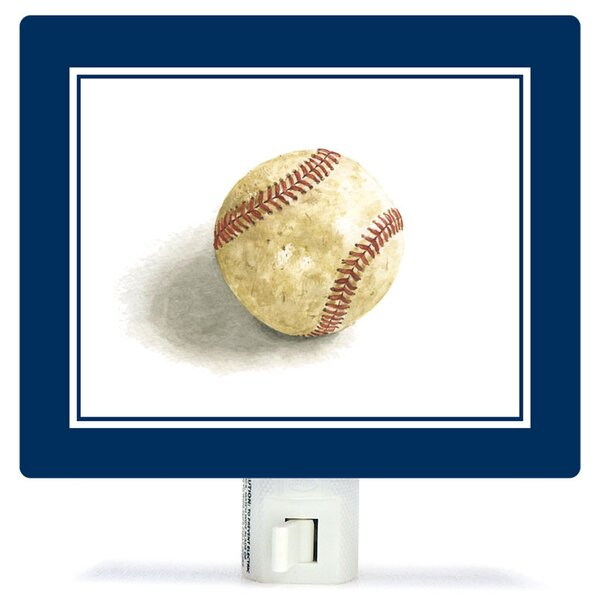 Non-Personalized Sports and Games Game Ball Canvas Night Light by Oopsy Daisy