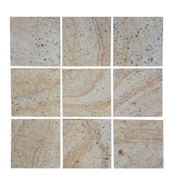 3.89 x 3.89 Stone Mosaics Tile in Brown by Abolos