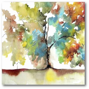 'Rainbow Trees III' Painting Print on Wrapped Canvas by Courtside Market
