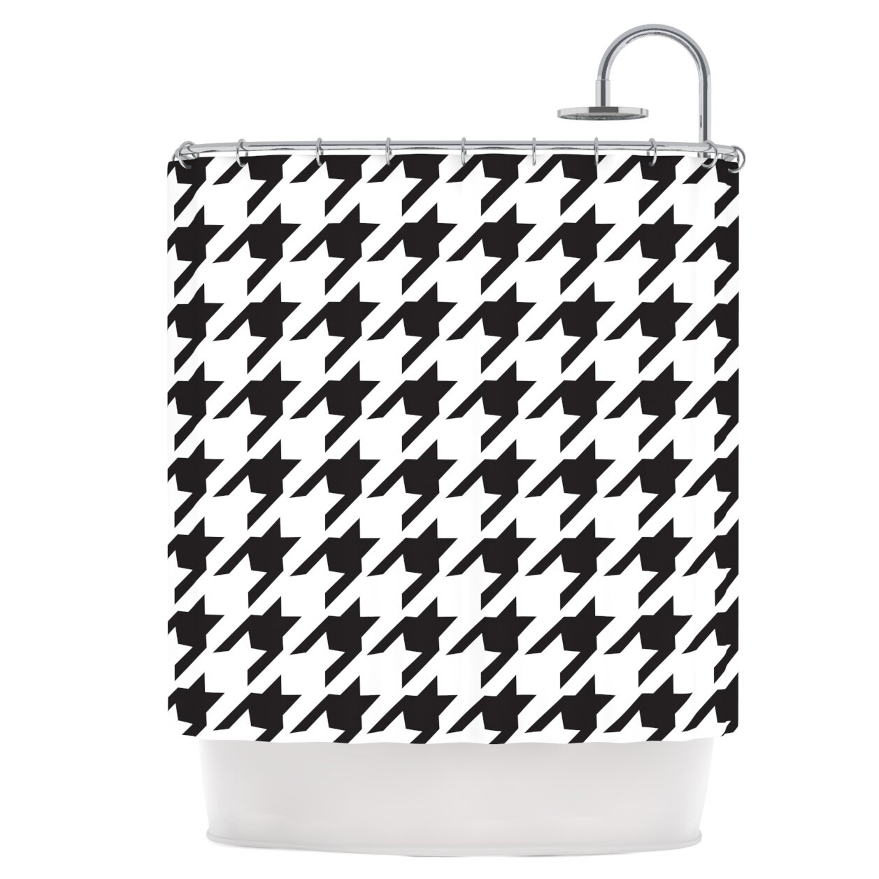 East Urban Home Houndstooth Shower Curtain
