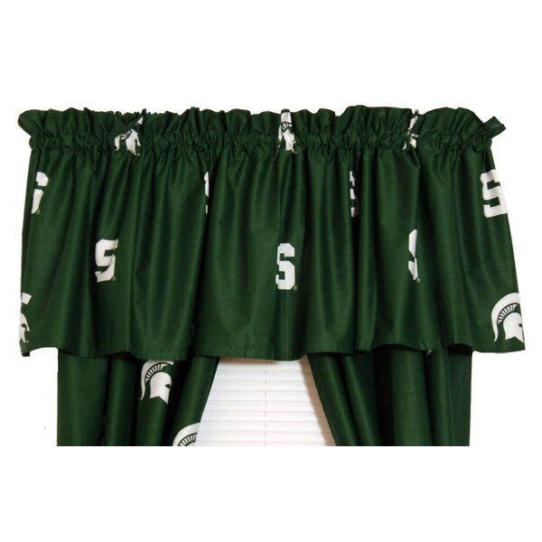 NCAA Michigan State Printed Rod Pocket Curtain Valance by College Covers