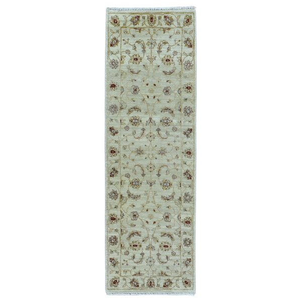 One-of-a-Kind Cherlyn Oriental Short Hand-Knotted Wool Beige Area Rug by Darby Home Co