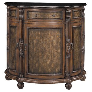 Charming 1 Drawer Curved Demilune Accent Cabinet