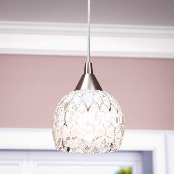 Appleton 1-Light Globe Pendant by Willa Arlo Interiors