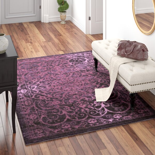 Landen Purple Area Rug by Charlton Home