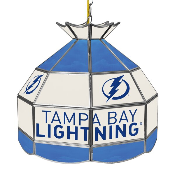 NHL Stained Glass 1-Light Pool Table Lights Pendant by Trademark Global