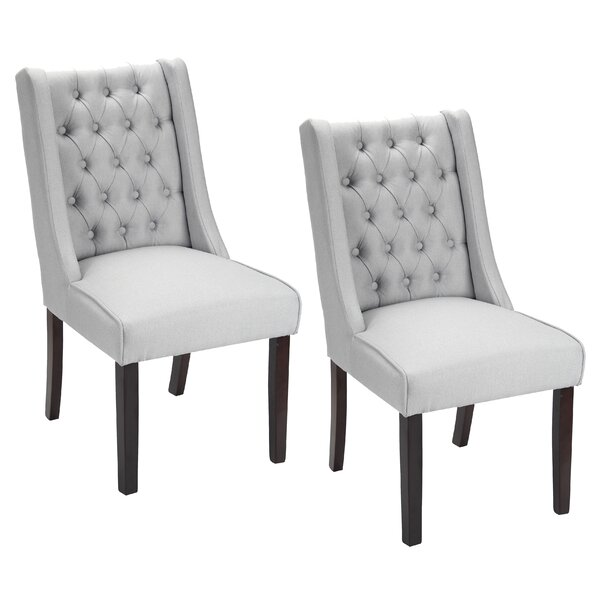 Plaistow Button Tufted Upholstered Dining Chair (Set of 2) by Gracie Oaks