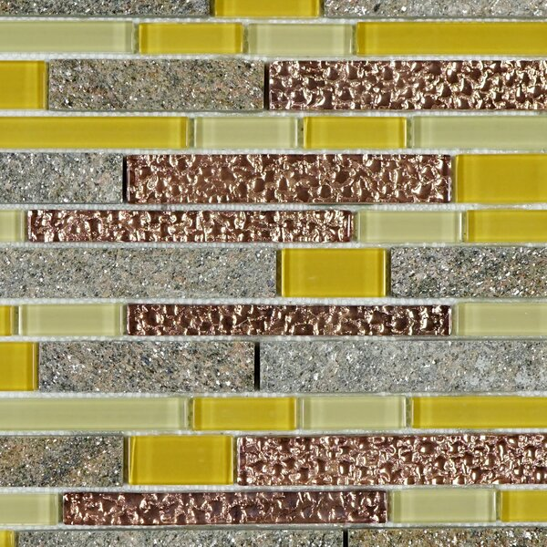Random Sized Mixed Material Tile in Yellow/Brown by Multile