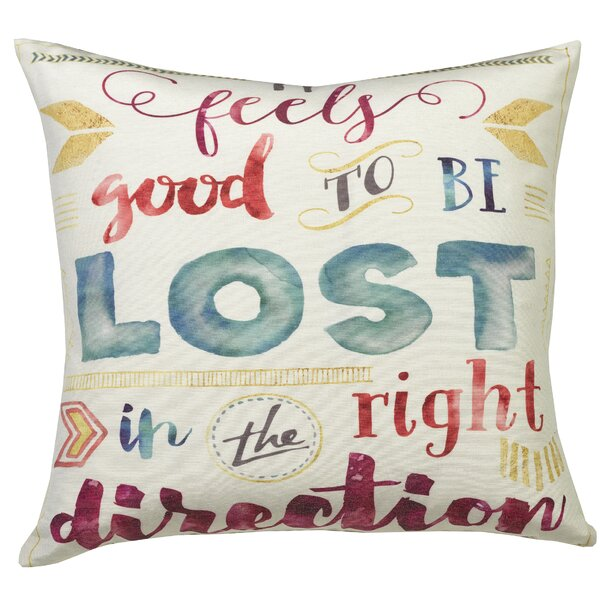 Urban Loft Lost Direction Throw Pillow by Westex