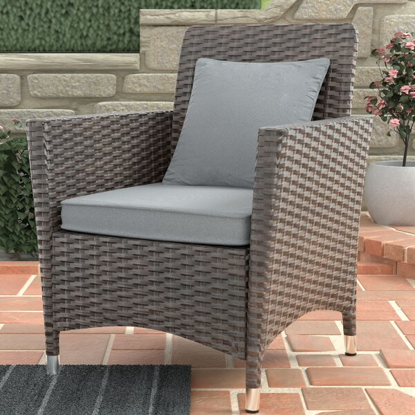 Derby Patio Dining Chair with Cushion (Set of 2) by Darby Home Co