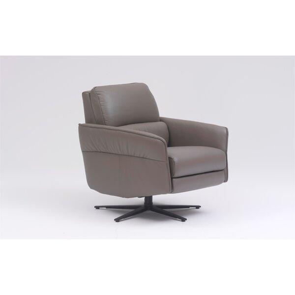 Hofmeister Leather 19.3 Manual Swivel Recliner Brayden Studio W000745992