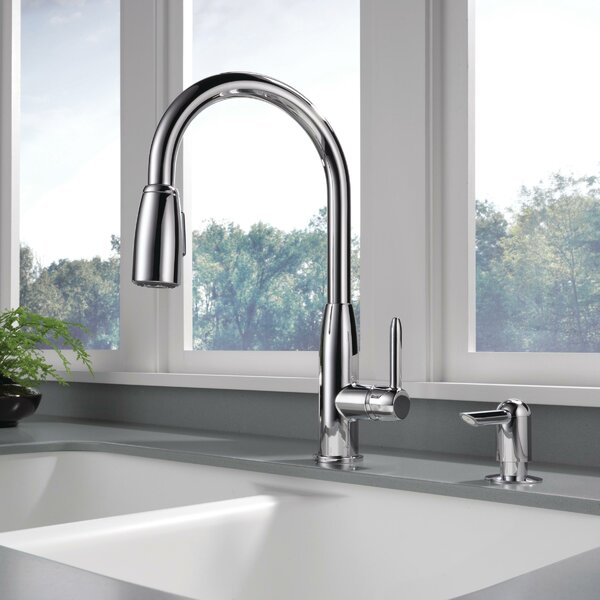 Pull Down Single Handle Kitchen Faucet by Peerless Faucets