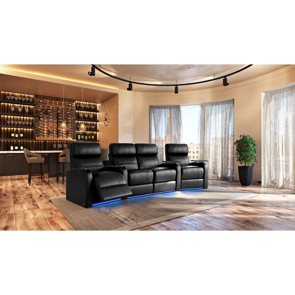 Large LED Flex Light Home Theater Row Seating (Row Of 4) By Latitude Run