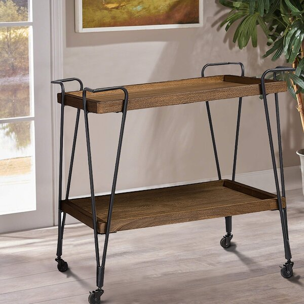 Zosia Ash Wood Mobile Serving Bar Cart By Gracie Oaks Comparison
