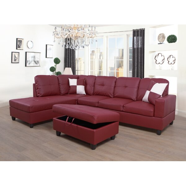 Cokato Sectional with Ottoman by Ebern Designs