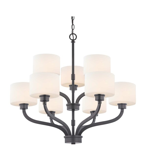 Lentz 9 - Light Shaded Tiered Chandelier By Wrought Studio