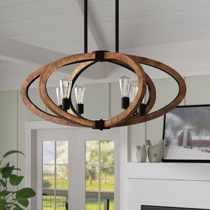 Orly 6 Light Candle Style Globe Chandelier
