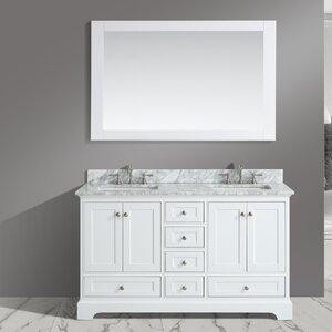 Jocelyn 60″ Bathroom Sink Vanity Set with Mirror