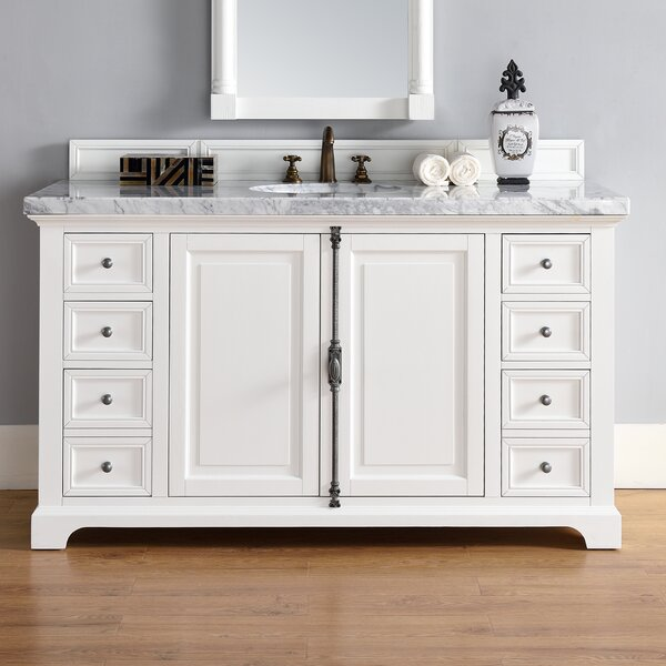 Ogallala 60 Single Cottage White Bathroom Vanity Set by Greyleigh