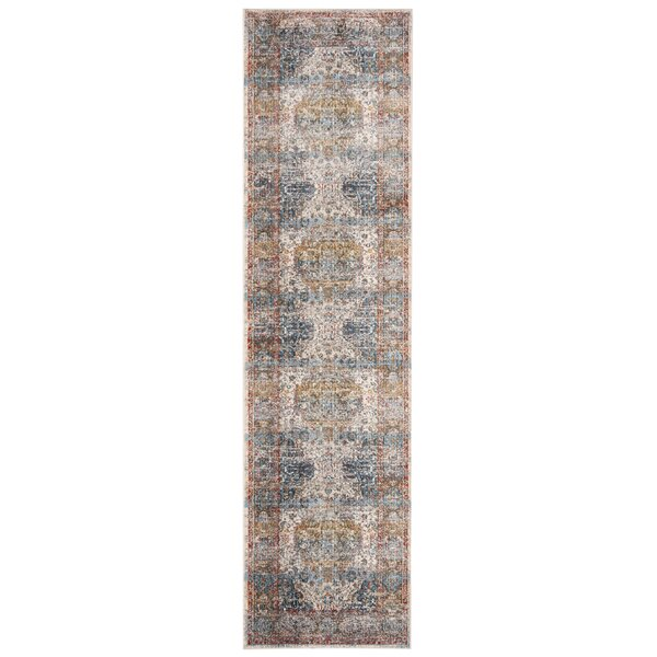 Presswood Vintage Persian Cotton Beige/Blue Area Rug by World Menagerie