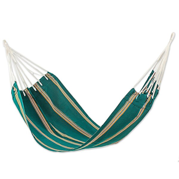 Happy Beach Single Acrylic Tree Hammock by Novica