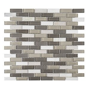 Misty Harbor 11.75 x 11.88  Vanilla Bean Mosaic Tile in White by Kellani