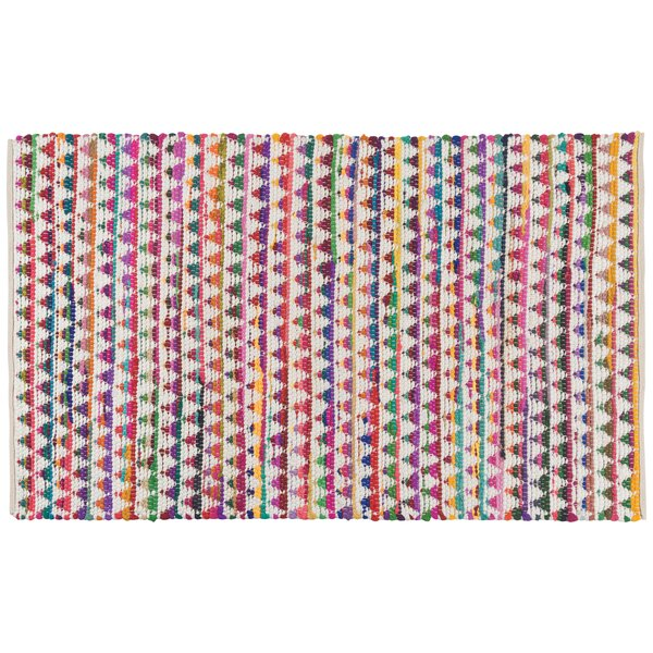 Rosborough Hand-Woven Blue/Pink Area Rug by Latitude Run